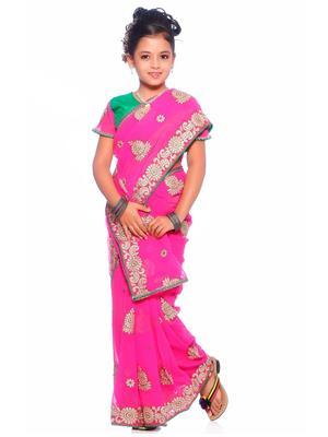 SareeGalaxy CKID147R Pink Girl Saree
