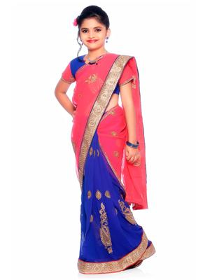 SareeGalaxy CKID148 Blue Girl Saree