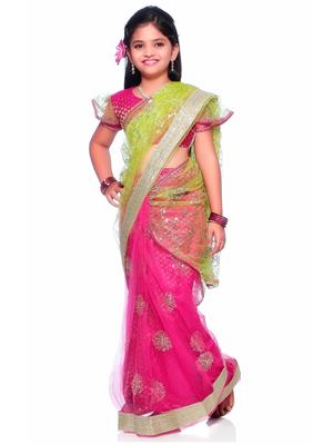 SareeGalaxy CKID151M Pink Girl Saree