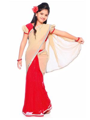 SareeGalaxy CKID220 Red Girl Saree