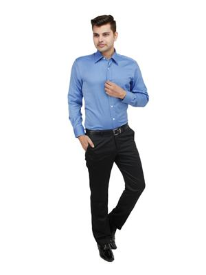 Zodiac CL10 Blue Men Formal Shirt