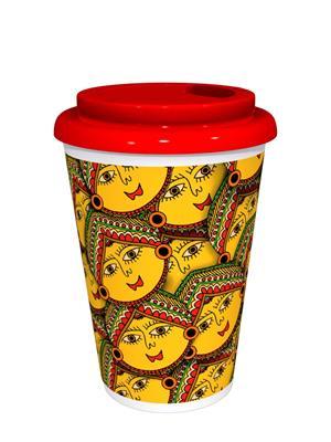Kolorobia CMGM03 Versatile Madhubani Cafe Mug