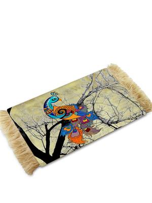 Kolorobia CMPC11 Cream Peacock Coffee Table Mat
