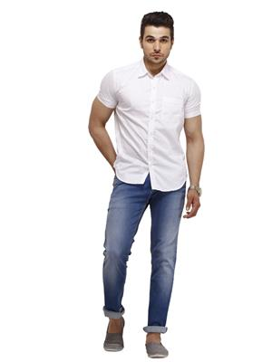 Numero Uno CMSHHA-29 White Men Casual Shirt