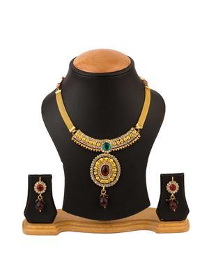 Quail CNJD9 2 Gold Necklace Sets