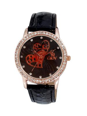 Chappin & Nellson CNL-70-RG-Black Women Wrist Watch