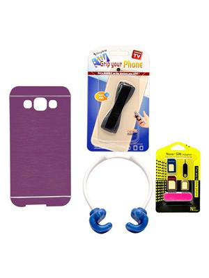 Mify 14-799 Pink Back Cover Samsung Galaxy E5 Combo Pack