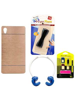 Mify 14-850 Golden Back Cover Sony Xperia Z2 Combo Pack