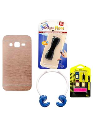 Mify 14-856 Golden Back Cover Samsung Galaxy Z1 Combo Pack