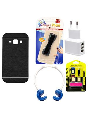 Mify 19-1075 Black Back Cover Samsung Galaxy J1 Combo Pack