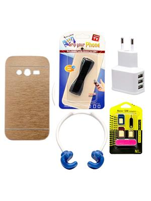 Mify 19-1176 Golden Back Cover Samsung Galaxy G313 Combo Pack