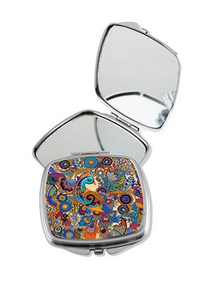 Kolorobia Bewitching Peacock Compact Mirror
