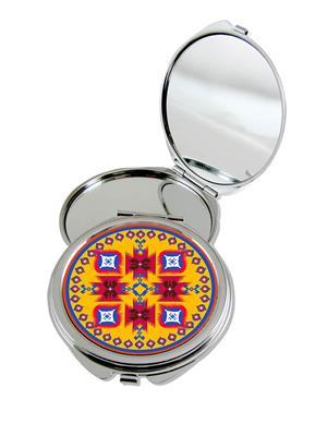 Kolorobia Ravishing Ikat Compact Mirror