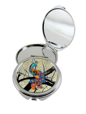 Kolorobia Enticing Peacock Compact Mirror
