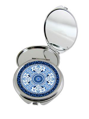 Kolorobia Turkish Blue Compact Mirror Round