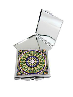 Kolorobia Floral Moroccan Compact Mirror