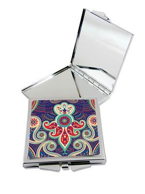 Kolorobia Attractive Paisley Compact Mirror