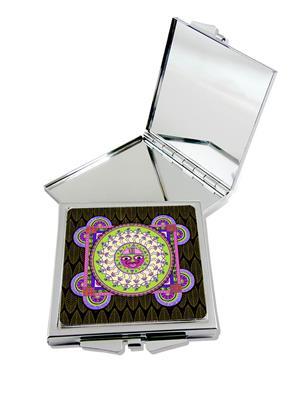 Splendid Dazzling Warli Compact Mirror