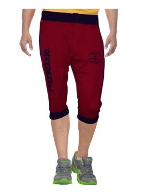 Clickroo CPTF0137L Red Men Capris