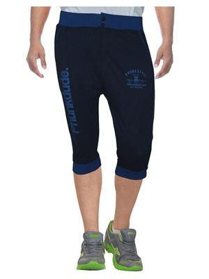 Clickroo CPTF0138L Navy Blue Men Capris