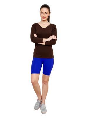 Softrose CS02PRB Multicolored Women Shorts Combo of 2