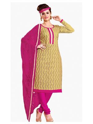 Style Vista CSU2127 Beige Women Dress Material