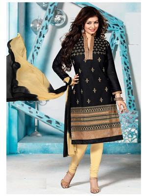 Style Vista CSU2147 Black Women Dress Material