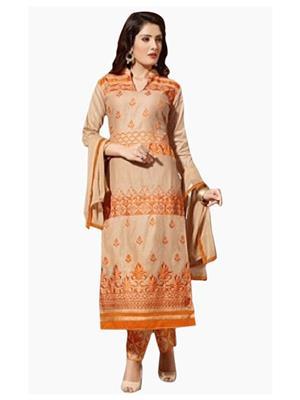 Style Vista CSU2182 Orange Women Dress Material