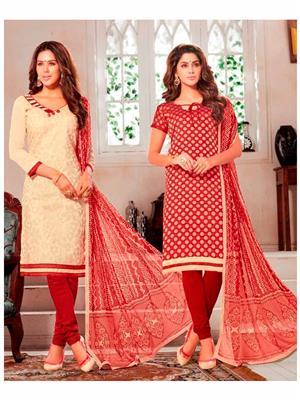 Style Vista CSU2368 Multicolored Women Dress Material Pack Of 2