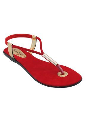Clever Steps Cs-35-Red Women Sandal