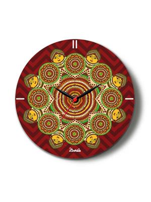 Kolorobia CTM01 Madhubani Aura Glass Clock