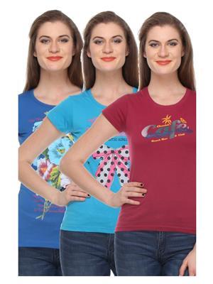Rose Taylor CTOPC1109 Multicolored Women T-Shirt Set Of 3