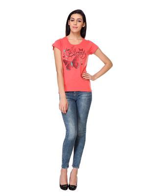 Rose Taylor Ctop2201 Orange Women T-Shirt