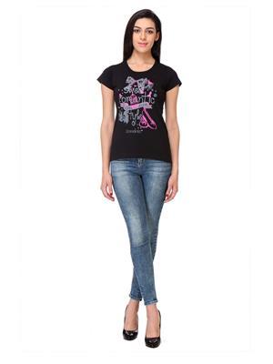 Rose Taylor Ctop2206 Black Women T-Shirt
