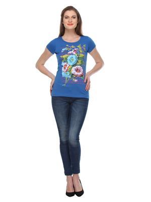 Rose Taylor Ctp2218 Blue Women T-Shirt