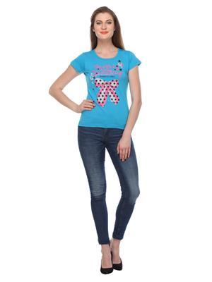 Rose Taylor Ctp2219 Blue Women T-Shirt