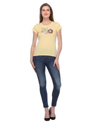 Rose Taylor Ctp2221 Yellow Women T-Shirt