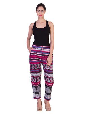 Curvyy Cuctpnk Multicolored Women Trouser