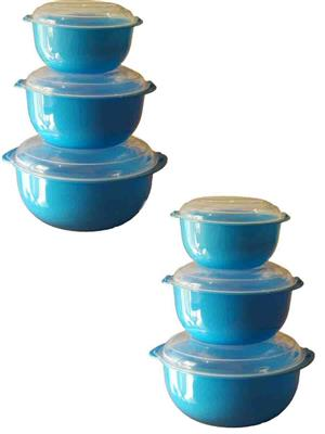 IntraPlasto Chef Casserole BL6 Blue Casserole set of 6