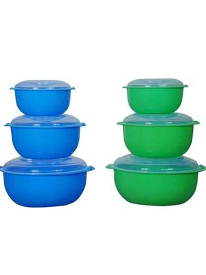 IntraPlasto Chef Casserole BL GR6 Blue Green Casserole set of 6