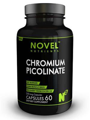 Novel Nutrients CHROMIUM PICOLINATE 250 mcg 60 Capsules Fat Burner