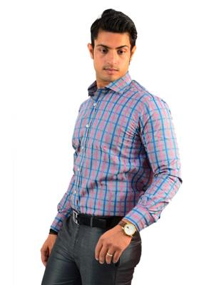 Wesern Closet WC05 Multicolored Men Formal Shirt