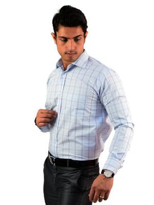 Western Closet WC07 Blue Men Formal Shirt