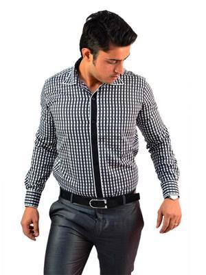 Western Closet WC09 Black Men Formal Shirt