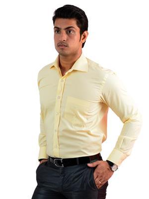 Western Closet WC12 Yellow Men Formal Shirt