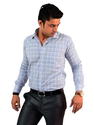 Western Closet WC13 Checkered Men Formal Shirt
