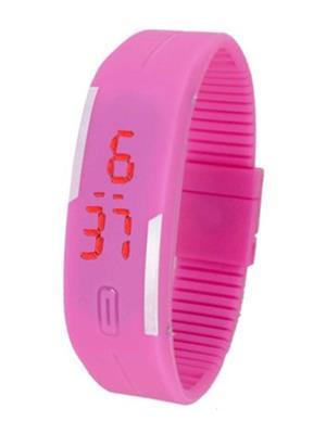 Fashion Ultra Thin  Cm04 Pink Men Digital Led Watch