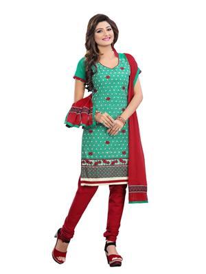Minu Suits 4012 Green Women Dress Material