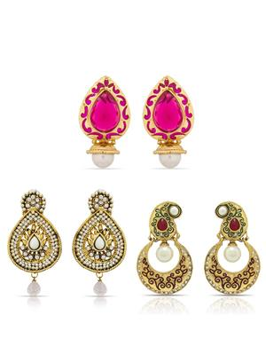 The Luxor 2289 Multicolored Women Earring Combo Pack