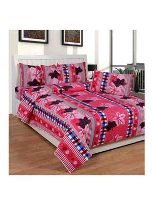 GANPATI TRADERS Cotton-1 Pink Bedsheet